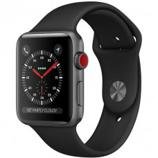 Apple Watch Series 3 42mm GPS+LTE Space Gray Aluminum Case with Black Sport Band (MTGT2)