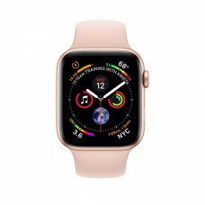 Apple Watch Series 4 40mm GPS+LTE Gold Aluminum Case with Pink Sand Sport Band (MTUJ2)