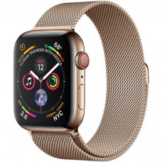 Apple Watch Series 4 40mm GPS+LTE Gold Stainless Steel Case with Gold Milanese Loop (MTUT2)