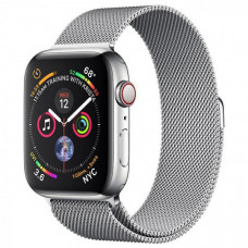 Apple Watch Series 4 40mm GPS+LTE Silver Stainless Steel Case with Milanese Loop (MTUM2)