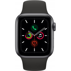 Apple Watch Series 5 40mm Space Gray GPS + LTE Aluminum Case with Black Sport Band (MWWQ2)